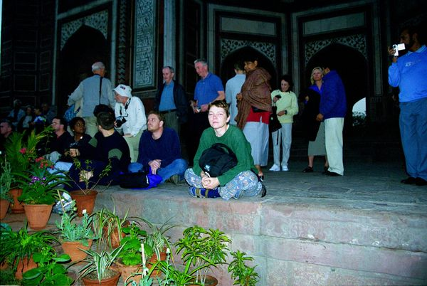 Seule au Taj Mahal à l'aube…