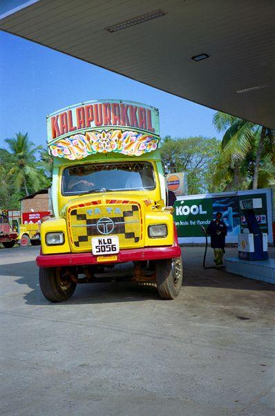 La route qui nous mène vers notre ballade sur les backwaters à côté de Cochin