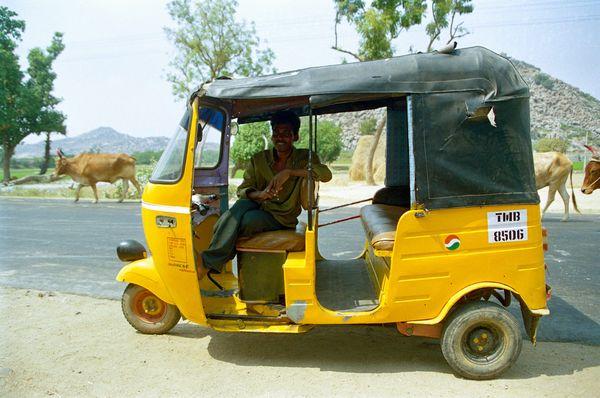 Rickshaw depuis l'arrêt de bus